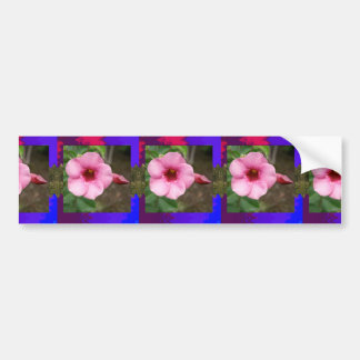 Template orchid flowers butterfly pink yellow gift bumper sticker