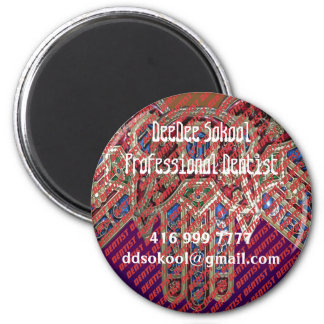 Template: PROFESSIONAL DENTIST Replace Text Image 6 Cm Round Magnet