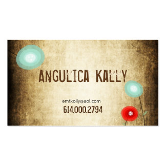 Template Red Poppy Pack Of Standard Business Cards