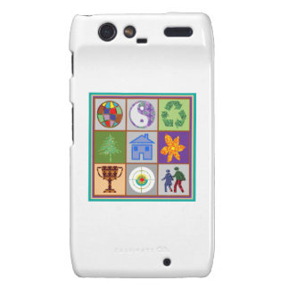 TEMPLATE reseller customer SYMBOLIC ART tell story Droid RAZR Covers