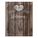 Template rustic wood welcome wedding sign Print