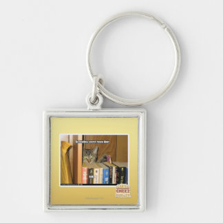 Template Silver-Colored Square Key Ring