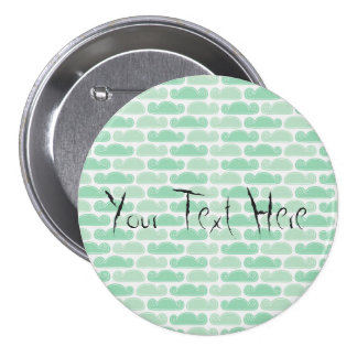 Template Sweet Mint Large, 3 Inch Round Button