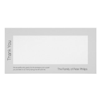 Template Sympathy Thank you 2 Add favorite image Personalised Photo Card