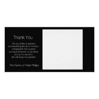 Template Sympathy Thank you - Add favorite image1 Customized Photo Card