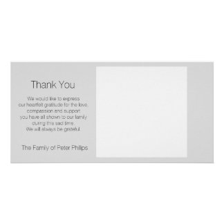 Template Sympathy Thank you - Add favorite image2 Personalized Photo Card