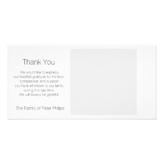 Template Sympathy Thank you - Add favorite image3 Photo Card