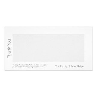 Template Sympathy Thank you - Add favorite image Custom Photo Card