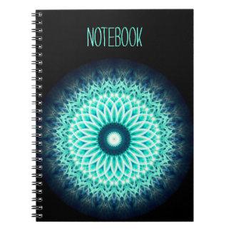 Template Text | Blue Lotus Mandala Notebook