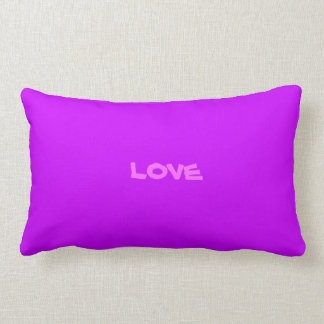 template text Cotton Throw Pillow Lumbar 13x21