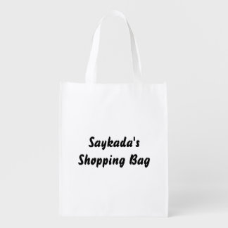 Template Text Reusable Bag
