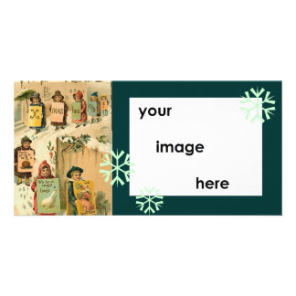 Template Vintage Parade Christmas Picture Card