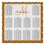 Template Wedding Seating Chart Leopard
