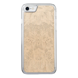 Template - White Lace Background Carved iPhone 8/7 Case