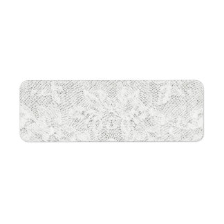 Template - White Lace Background Return Address Label