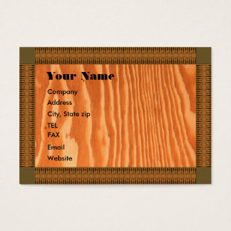 Template Wood Grain Chubby Card