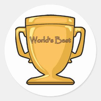 Template - World's Best... Classic Round Sticker