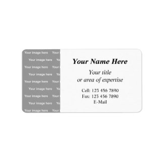 template your information label address label