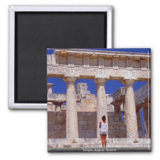Temple, Aegina, Greece Refrigerator Magnets
