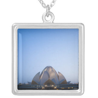 Temple at Night Silver Plated Necklace
