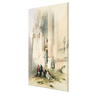 Temple called El Khasne, Petra, March 7th 1839, pl Canvas Print