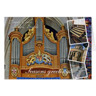 Temple Church London Christmas greetings Greeting Card
