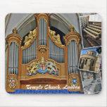 Temple Church, London, England pipe organ mousepad