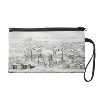 Temple copied from a design on a medal found besid wristlet clutches