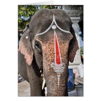 Temple Elephant Card