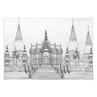 Temple Faade Placemat
