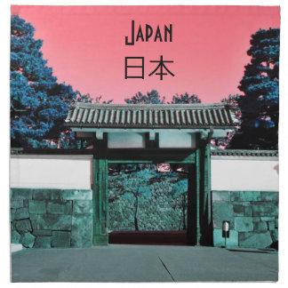 Temple gate in Tokyo, Japan Napkin