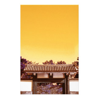 Temple gate in Tokyo, Japan Stationery