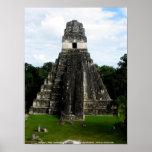 Temple I, Tikal, Guatemala Poster