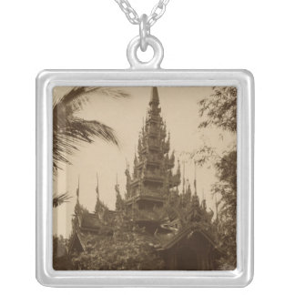 Temple in Mandalay, Burma, late 19th century Silver Plated Necklace