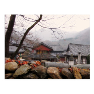 Temple in rural South Korea, Autumn Postcard