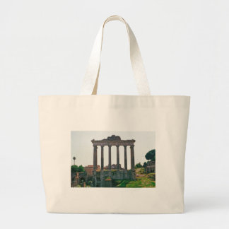 Temple in the Roman Forum Canvas Bags