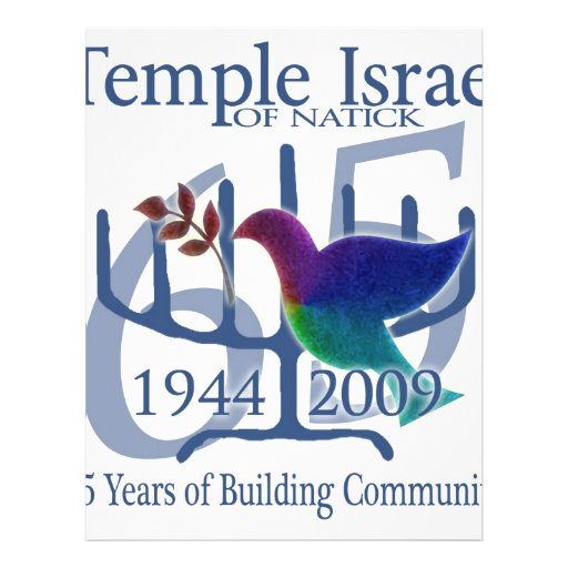 Temple Israel of Natick 65 years Flyer