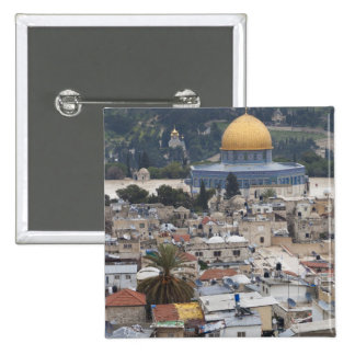 Temple Mount and Dome of the Rock 15 Cm Square Badge