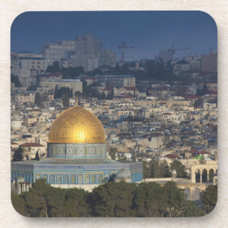Temple Mount and Dome of the Rock dawn Drink Coaster