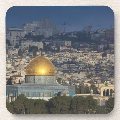 Temple Mount and Dome of the Rock, dawn Drink Coaster