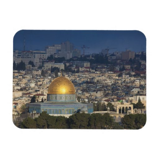 Temple Mount and Dome of the Rock, dawn Vinyl Magnets
