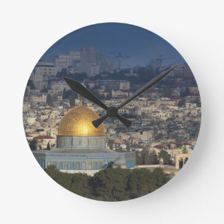 Temple Mount and Dome of the Rock, dawn Wall Clocks