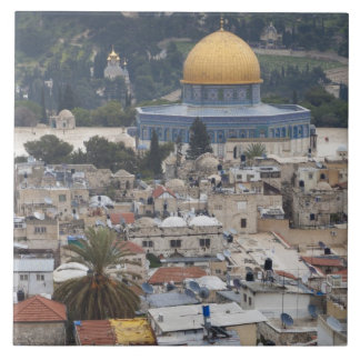 Temple Mount and Dome of the Rock Large Square Tile