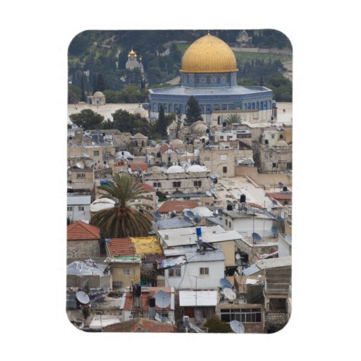 Temple Mount and Dome of the Rock Rectangular Magnets