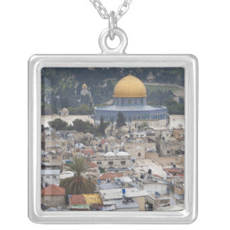 Temple Mount and Dome of the Rock Silver Plated Necklace