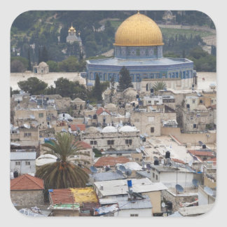 Temple Mount and Dome of the Rock Square Stickers