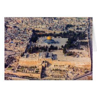 Temple Mount Old City Jerusalem Dome of the Rock Greeting Card