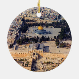 Temple Mount Old City Jerusalem Dome of the Rock Round Ceramic Decoration