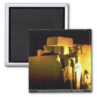Temple of Amon, Karnak Temple, Luxor, Egypt Desert Square Magnet