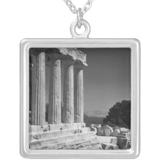 Temple of Aphaea Silver Plated Necklace